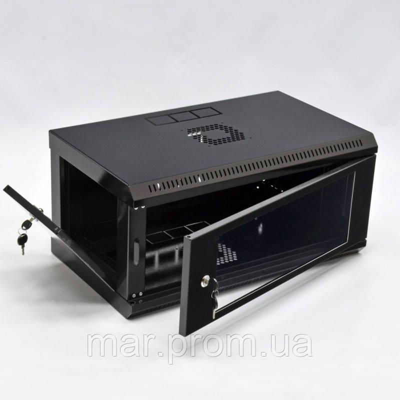 Шкаф 4U, 600x350x284мм (Ш * Г * В), эконом, акриловое стекло, чёрный