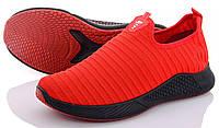 Кроссовки носки мужские весенние летние сетка, текстиль красные. Полноразмерные. Размеры 43 и 44.