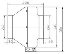 Вентилятор канальный круглый для круглых каналов ВК 250, фото 3