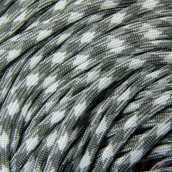 Шнур Паракорд Полиэстер подходит для плетения браслетов, Цвет: Серый, Размер: Ширина 4мм/ Упак.: 5 м