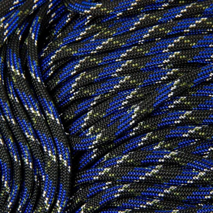 Шнур Паракорд Полиэстер подходит для плетения браслетов, Цвет: Синий, Размер: Ширина 4мм/ Упак.: 5 м