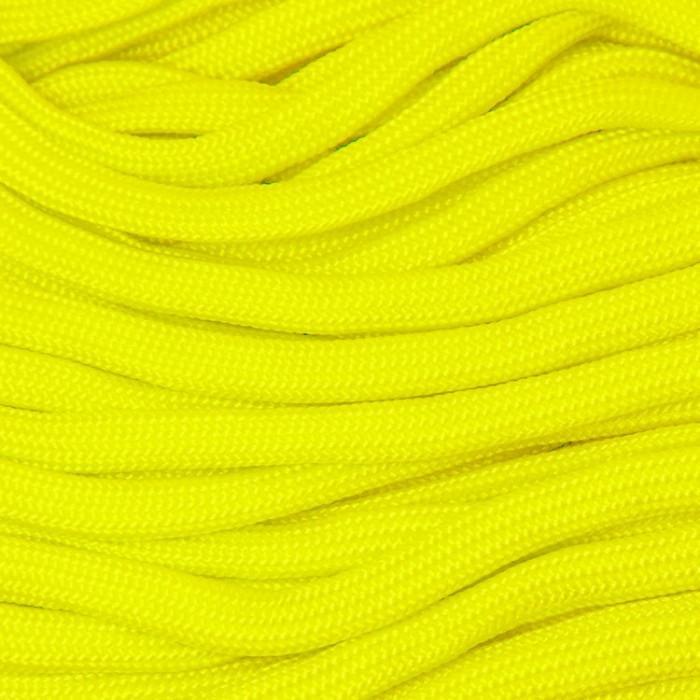 Шнур Паракорд Полиэстер подходит для плетения браслетов, Цвет: Желтый, Размер: Ширина 4-5мм/ Упак.: 5 м