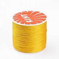 Шнур Monisto Вощеный Полиэстер 0.7мм Цвет: Оранжевый 10м