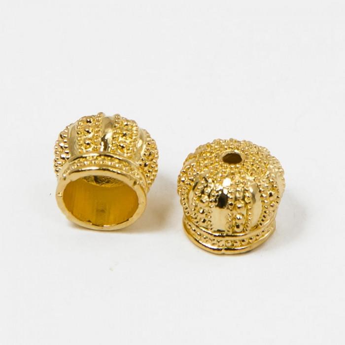 Конус для Бусин, Латунь, Цвет: Золото, Размер: 12х10мм, Отверстие 2мм/ Упак.: 2 шт