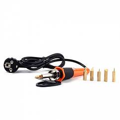 Аппликатор Электрический, 5 насадок с резьбой, для Страз, Эмбоссинга и Карвинга, Размер: 26x13.5x4.5см,