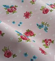 Ткань для декора с мелким цветком, розовый