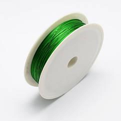 Проволока Железная Monisto 0.3мм Цвет: Зеленый около 20м/катушка