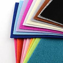Фетр, Полиэстер, Цвет: Микс, Размер: 150x100x1мм, 40шт/набор, (УТ100013917)