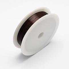 Железная Проволока 0.3мм/20м, Цвет: Темно-коричневый, Толщина 0.3мм, 20м/катушка
