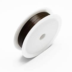 Железная Проволока 0.4мм/12м, Цвет: Темно-коричневый, Толщина 0.4мм, 12м/катушка