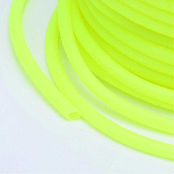 Шнур Резиновый Синтетический полый, Цвет: Лимонный, Размер: Толщина 2мм, Отверстие около 1мм/ Упак.: 5 м