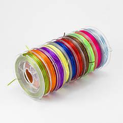 Нить Monisto Эластичное Волокно 0.5мм Цвет: Микс Цветов 1набор