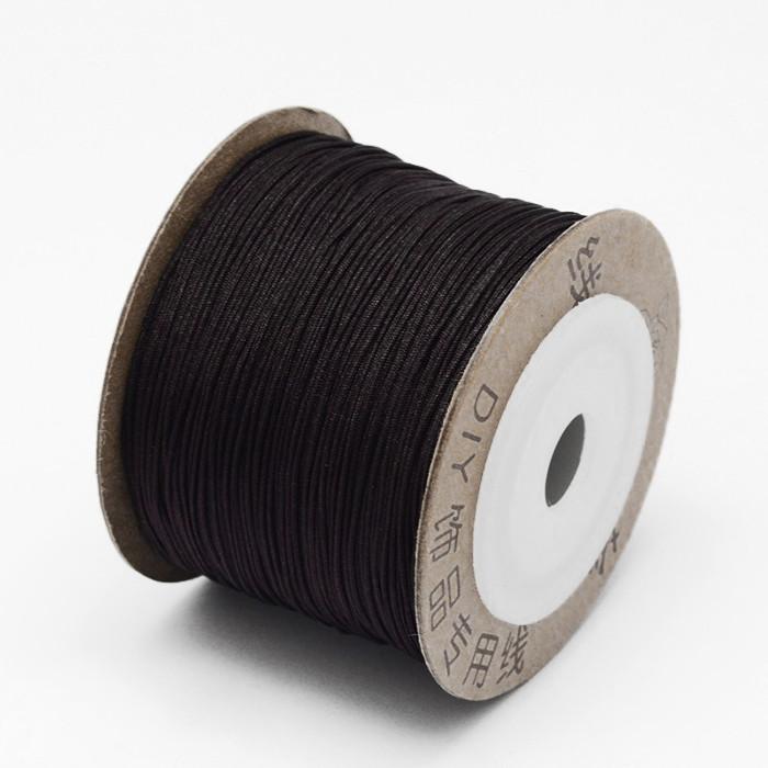 Шнур Нейлоновый, Цвет: Темно-коричневый, Размер: Диаметр 0.6мм/ Упак.: 10 м
