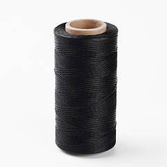 Шнур Monisto Вощеный Полиэстер 1х0.3мм Цвет: Черный около 260м/катушка