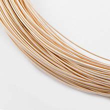 Канитель Жесткая, Цвет: Розовое Золото, Диаметр 1мм, отрезки не менее 8 см, около 250см/10г, (УТ100016679)