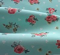 Ткань для штор  и декора, бирюза