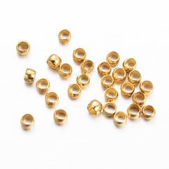 Бусины Зажимные Стопперы Monisto Кримпы Латунь 1.5мм Цвет: Золото около 1000шт/5г