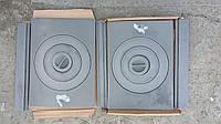 Плита чугунная 2-х конфорочная разборная (71х41 см)