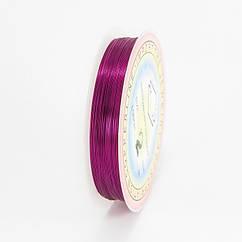 Медная Проволока, Цвет: Пурпурный, Толщина: 0.2мм, 35м/катушка