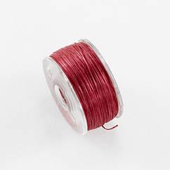 Нитьдля Бисера Полиэстер Япония, Специальное Покрытие, Цвет: Красный, Размер: 0,1мм, 45м/катушка,