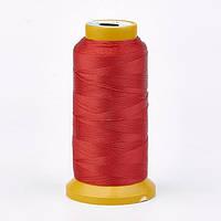 Нить Полиэстер, Цвет: Красный, Размер: 1мм, около 230м/катушка