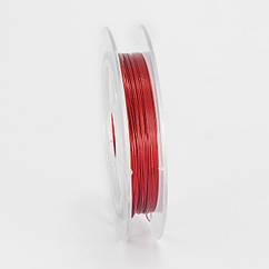 Медная Проволока, Цвет: Красный, Толщина 0.3мм, 10м/катушка10 кат./набор