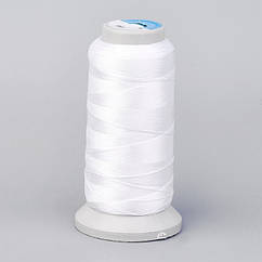 НитьПолиэстер, Цвет: Белый, Размер: 0.7мм, около 310м/катушка,