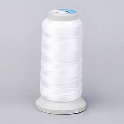 НитьПолиэстер, Цвет: Белый, Размер: 1мм, около 230м/катушка,