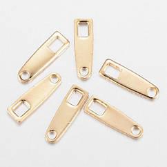 Концевик для Цепочки, Цвет: Золото, Размер: 10x3x0.8мм, Отверстие 1.2мм и 2.5мм, 5 шт