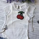 Летний  костюм с юбкой на девочку. Размер 62 см, 68 см, 74 см, 80 см, фото 2