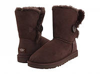 Женские UGG Bailey Button Chocolate , фото 1
