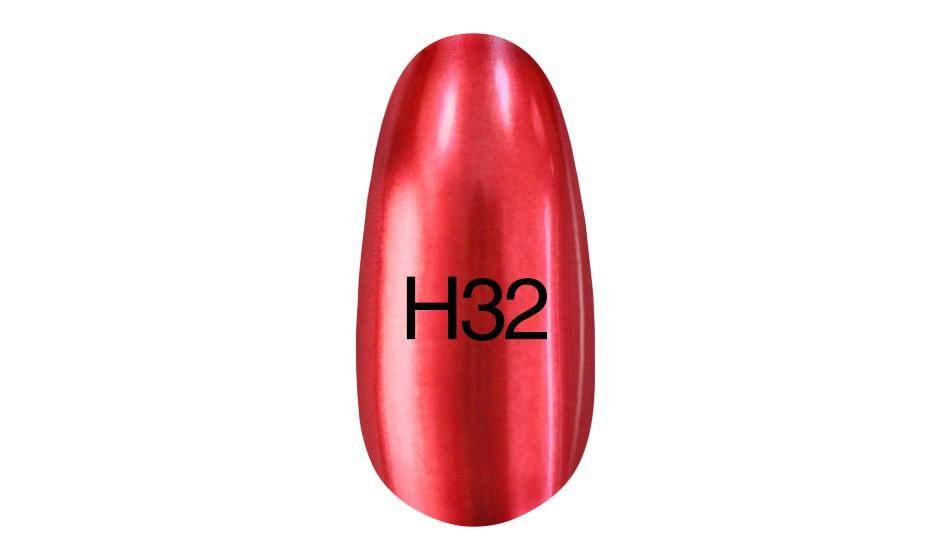 УЦЕНКА Зеркальный лак Kodi Professional Hollywood 8ml H 32 (красный)