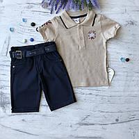 Летний джинсовый костюм на мальчика 21. Размер 3 года, 4 года, 5 лет