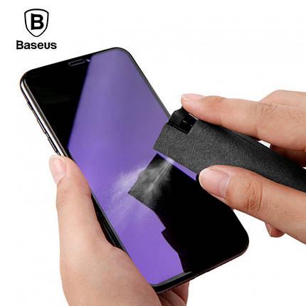 Чистящее дезинфицирующее средство для экрана Baseus One-piece Screen Cleaner Set ACCLEA-TZ01 (Черное), фото 2