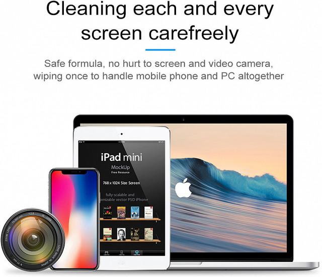Чистящее дезинфицирующее средство для экрана Baseus One-piece Screen Cleaner Set ACCLEA-TZ01