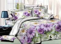Комплект постельного белья Цветы Merryland поплин Евростандарт 1542