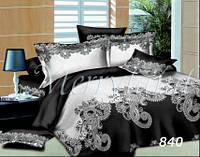 Комплект постельного белья Черно-белое Merryland сатин Евростандарт 840