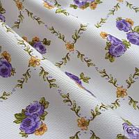 Ткань для штор в мелкий сереневый цветок