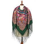 Цвет граната 1875-10, павлопосадский платок (шаль) из уплотненной шерсти с шелковой вязаной бахромой, фото 3