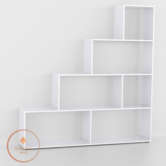 Стелаж для будинку Білий, книжкова полиця з ДСП