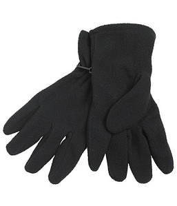 Перчатки из микрофлиса MBLK Чёрный, S/M