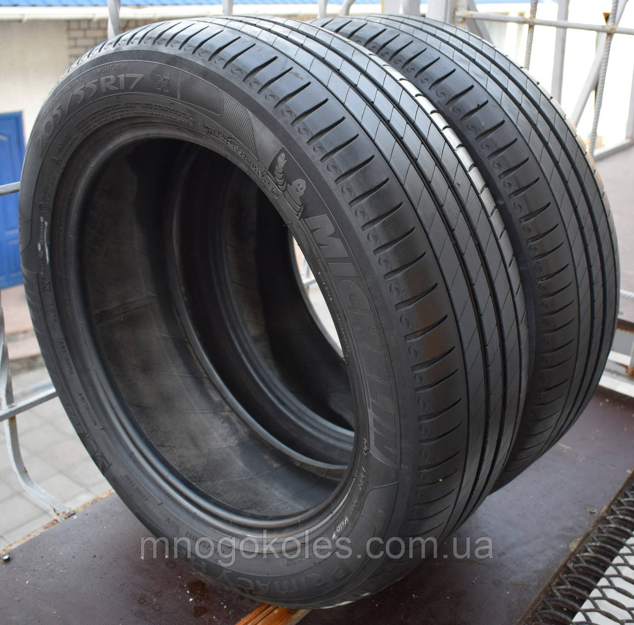 Шини б/у 205/55 R17 Michelin Primacy HP, ЛІТО, пара