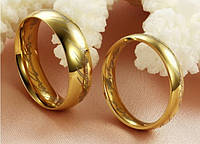 Властелин колец черное, золотые стальные кольцо