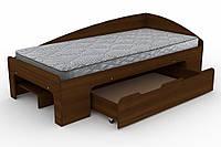Односпальная кровать с ящиком Компанит - 90+1