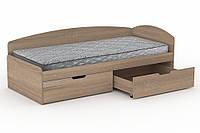 Односпальная кровать с ящиками Компанит - 90+2С