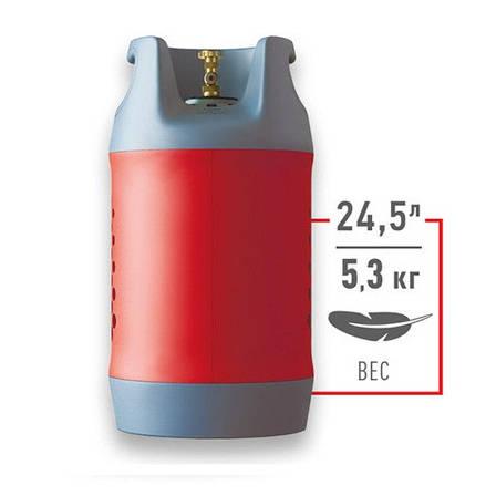Композитный газовый баллон 24.5L HPC Research (Чехия), фото 2
