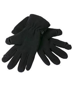 Перчатки флисовые touch-screen MBLK Чёрный, L/XL