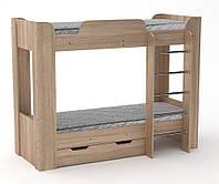 Двухъярусная кровать с ящиком Твикс-2