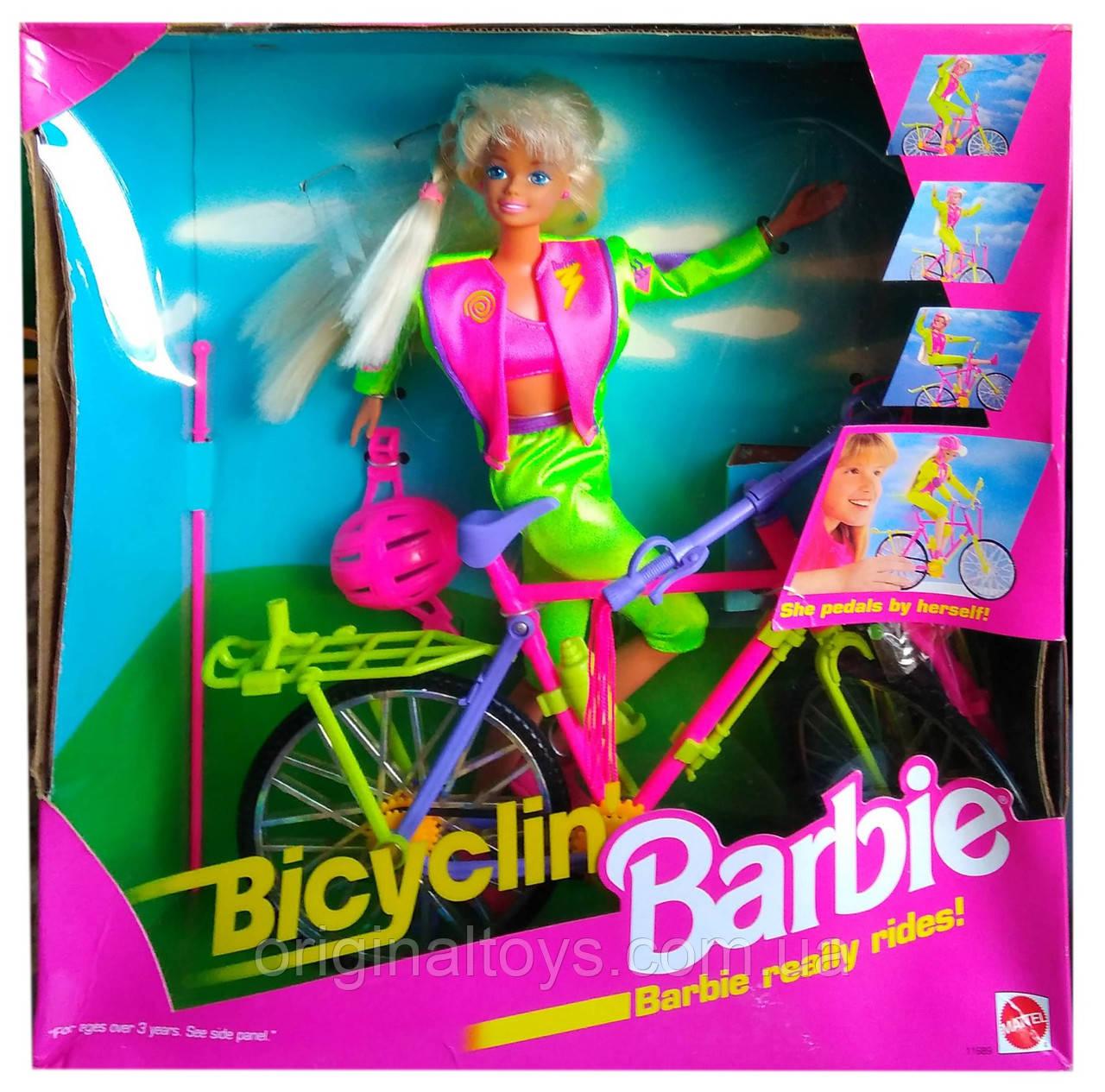 Коллекционная кукла Барби на велосипеде Bicyclin' Barbie 1994 Mattel 11689