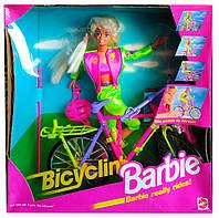 Коллекционная кукла Барби на велосипеде Bicyclin' Barbie 1994 Mattel 11689, фото 1